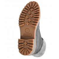 Женские ботинки Timberland Courmayeur Valley серые кожаные зимние