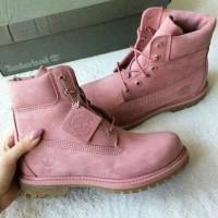 Timberland ботинки 10061 розовые демисезонные женские (36-41)