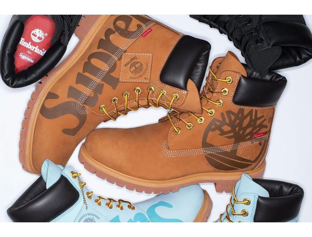 Timberland выпустил классические ботинки с логотипом Supreme