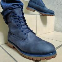 Timberland ботинки 10061 синие зимние с мехом (36-46)