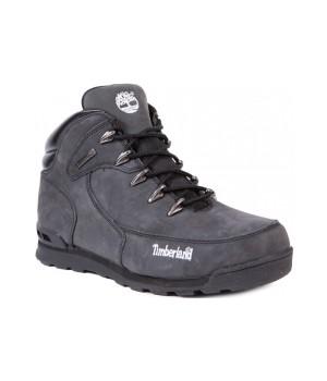 Ботинки Тимберленд Euro Sprint черные зимние с мехом (41-46)