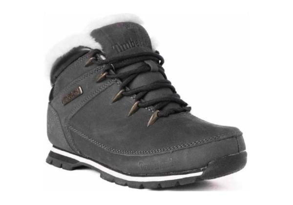 Мужские ботинки Timberland Euro Sprint серые зимние с мехом