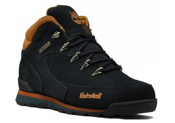 Ботинки Тимберленд Euro Sprint  синие зимние с мехом