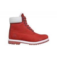 Женские ботинки Timberland Classic красные зимние