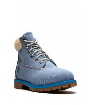 Timberland Ботинки джинсовые синие