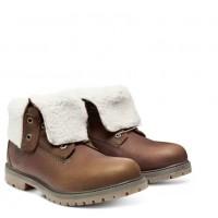 Timberland ботинки TEDDY FLEECE коричневые
