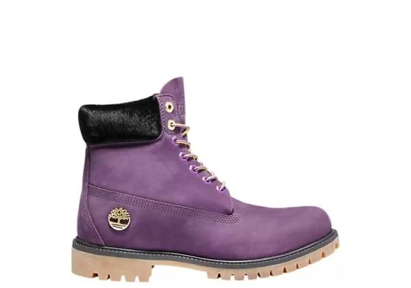 Timberland ботинки 6 inch premium boot nba los angeles lakers фиолетовые