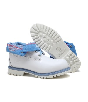 Мужские ботинки TIMBERLAND ROLL-TOP БЕЛЫЕ  (41-45)