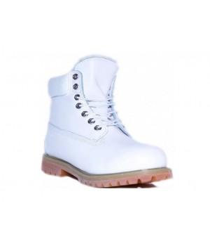 Timberland ботинки 10061 белые зимние с мехом (36-41)
