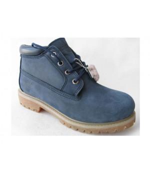 Обувь Timberland Classic Mini синие зимние с мехом (41-46)