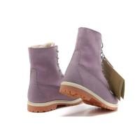 Ботинки женские Timberland Teddy Fleece фиолетовые (36-41)