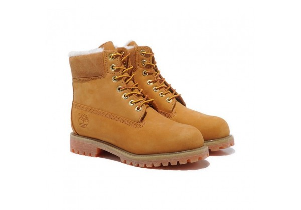 Timberland ботинки 10061 желтые зимние с мехом (36-46)