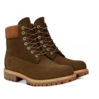 Timberland ботинки 10061 коричневые зимние с мехом (36-46)