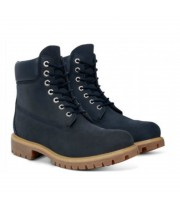 Timberland ботинки 10061 темно-синие зимние с мехом (36-46)