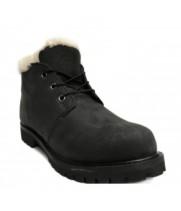 Timberland ботинки Heritage черные зимние с мехом (36-46)