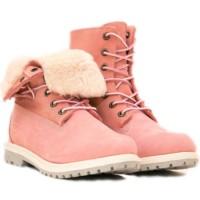 Ботинки Тимберленд Teddy Fleece pink розовые (36-41)
