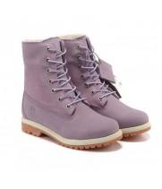Ботинки женские Timberland Teddy Fleece purple фиолетовые (36-41)