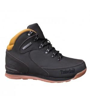 Обувь Timberland World Hiker Brown черные зимние с мехом