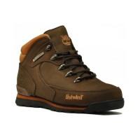 Ботинки Тимберленд Euro Sprint  коричневые зимние с мехом (41-46)