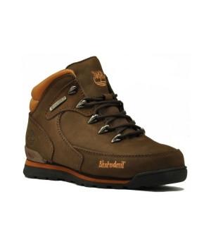 Ботинки Тимберленд Euro Sprint Brown коричневые зимние с мехом (41-46)