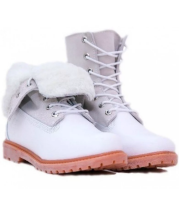 Ботинки женские Timberland  Teddy Fleece White Белые (36-41)
