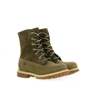 Ботинки женские Timberland Teddy Fleece khaki хаки (36-41)