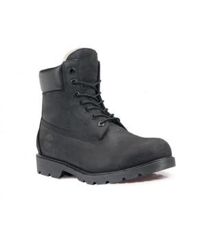 Timberland ботинки 10061 черные зимние с мехом (36-46)