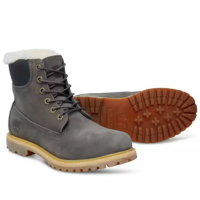 Timberland ботинки 6 Inch Shearling Boot серые
